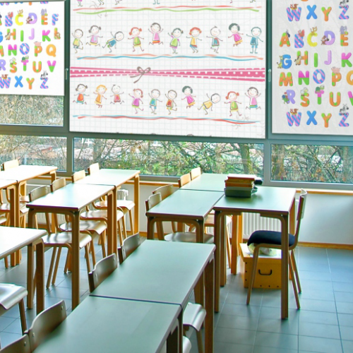 rolety dla dzieci szkola klasa