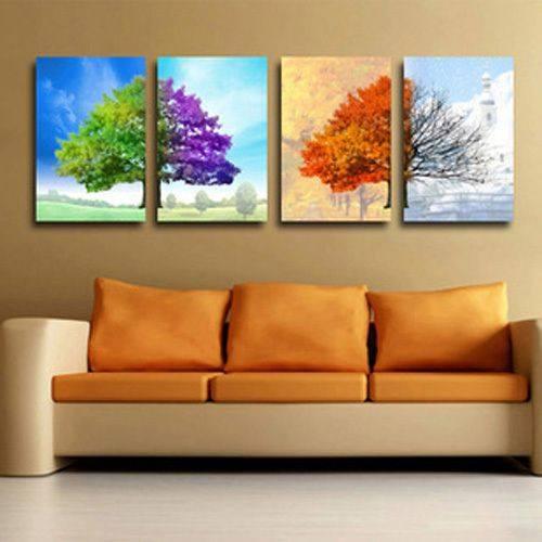 fotoobraz drzewa 4 pory roku