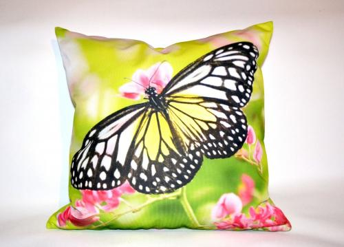 fotopoduszka motyl zielona