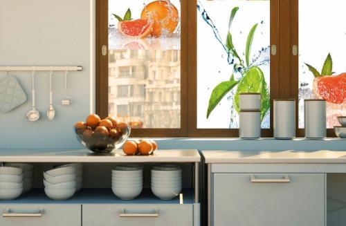 fotoroleta kuchnia pomarancze