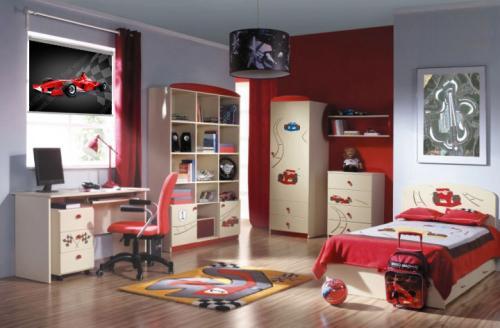 fotoroleta pokoj chlopiecy czerwony