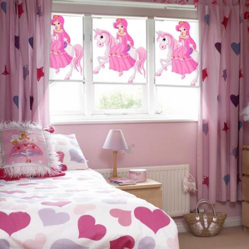 fotoroleta pokoj dziewczecy rozowy