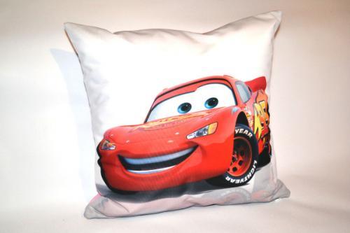 poduszka dla dzieci auto czerwone