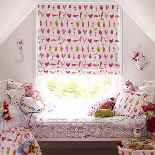 pokoj dzieciecy  fotoroleta roz