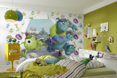 pokoj dzieciecy fototapeta potwory i spolka