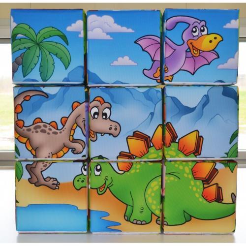 pufa puzzle dinozaury