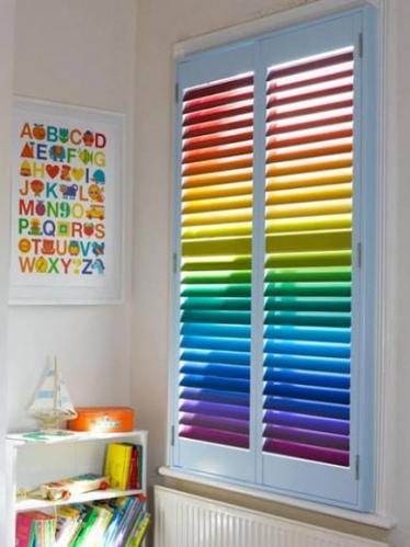 zaluzje poziome kolorowe dla dzieci